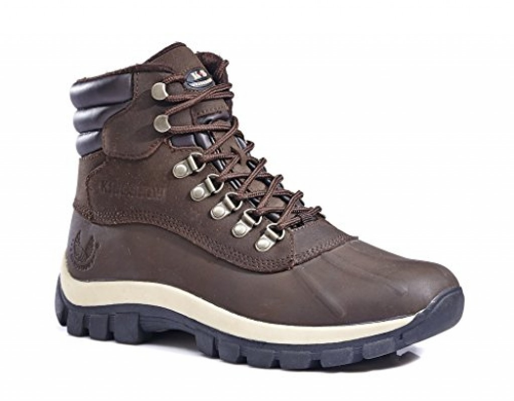 Kingshow Mens M0705 Water Proof Leather Rubber Sole Winter