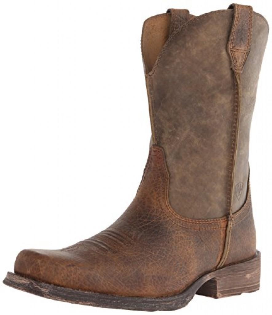 Ariat Men S Rambler Wide Square Toe Western Boot Earth